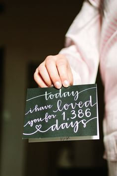 today I have loved you this many days, photo by Mustard Seed Photography http://ruffledblog.com/romantic-paris-elopement #stationery #weddingideas