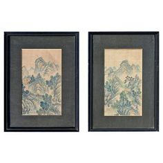 Check out this item at One Kings Lane! Pair of Japanese Silk Paintings
