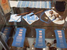 Breiwerk gemaakt op school. gezien in het museum in Dokkum. Friesland