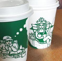 starbucks coffee cup art soo min kim