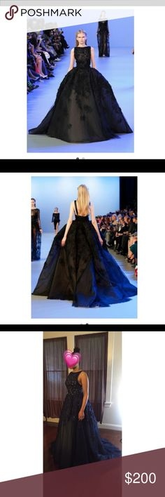 Navy Blue Ball Gown Navy Blue Ball Gown, Floor length 61in' size 8/10 Dresses Prom