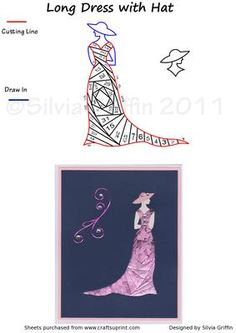 Long Dress with hat  on Craftsuprint designed by Silvia Griffin - For all the fashion lovers make it in Red for the red hat ladies. Make it in all white for a wedding and ad some flowers.I hope you get much use and enjoyment out of this pattern. Thank you for looking and please check out all my other patterns :). - Now available for download!