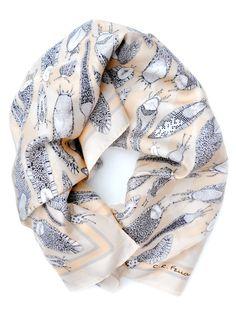 i find this slug scarf oddly chic