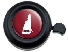 Amazon.com : Cool and Custom {Fully Adjustable to Fit Most Bikes} Bicycle Handlebar Bell Made of Hard Metal with New Hampshire Home State Design {Black, Crimson Red and White Colors} : Sports & Outdoors
