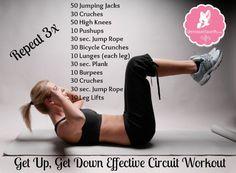 Get Up, Get Down Circuit Workout