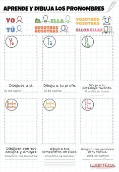 Listing learn pronouns