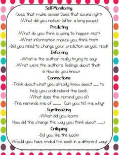 Great questions to use before/during/after reading