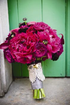 Ranunculus and Peony Bridal Bouquet | Michael Daigian Design | Arrowood Photography | TheKnot.com