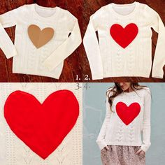 DIY Heart sweater!