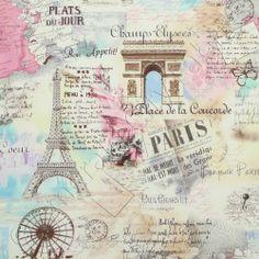 Tecido para Patchwork Paris Sepia KG08 - A partir de: - Coleção Florentine & Cia - Tecidos Importados - Patchwork