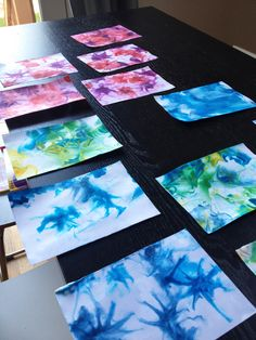 art scrap & more: TUTO: Making Marbleized Paper w. Project Life, Shaving Cream Art, Scrapbooking, Art Programs, Art Plastique, Teaching Art, Food Coloring, Crafts To Do, Early Childhood