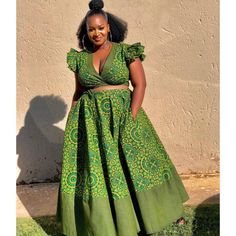 TribeOfAfrik shared a new photo on Etsy at Diyanu Seshweshwe Dresses, Ankara Dress Styles, African Wedding Dress, Latest African Fashion Dresses, African Dresses For Women, African Print Dresses, African Print Fashion, African Prints, African Outfits