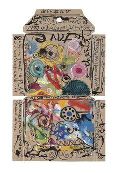 Silk Pirates by Jean Tinguely 1989 Jean Tinguely, Mixed Media Collage, Collage Art, Nouveau Realisme, Art Postal, Doodle, Envelope Art, Art Brut, Kinetic Art