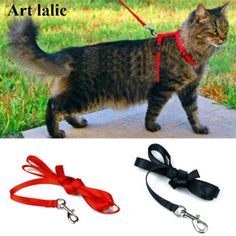 Cat-Harness-And-Leash-Hot-Sale-3-Colors-Nylon-Products-For-Animals-Adjustable