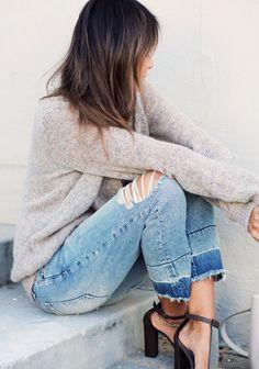 colorblock cropped denim jeans // click to shop <3