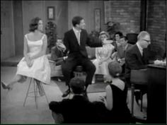 """Rob and Laura singing """"Mountain Greenery"""" in the Dick Van Dyke Show, The Sleeping Brother. (Dick Van Dyke and Mary Tyler Moore) Classic Tv, Classic Films, Golden Age Of Hollywood, Hollywood Stars, Musical Duets, Richard Rodgers, Childhood Tv Shows, Mary Tyler Moore, Classic Comedies"""