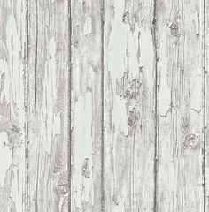 PRECIOUS ELEMENTS Nina Hancock - peeling wooden panel effect wallpaperavailable in a range of colours from S & A Supplies #woodeffect #rustic #wallpaper #homedecor