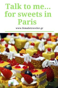 Talk to me... for sweets in Paris *Translator button at the top*