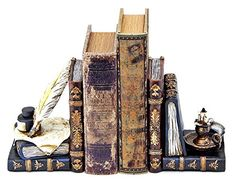 Decorative Bookends Wizards Writing Bundle with Magic Aladdin Lamp  *** Check out the image by visiting the link.