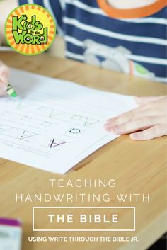 Teaching Handwriting with the Bible - Write Through the Bible Jr.