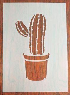 Cactus Stencil Mask Reusable PP Sheet for Arts 038 Crafts DIY delivers online tools that help you to stay in control of your personal information and protect your online privacy. Deer Stencil, Cactus Illustration, Wall Stencil Patterns, Stencil Printing, Silhouette Painting, Outdoor Art, Linocut Prints, Animal Design, Tag Art