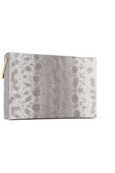 Charlotte Olympia - Lucky Vanina Embellished Karung Clutch - Silver - one size