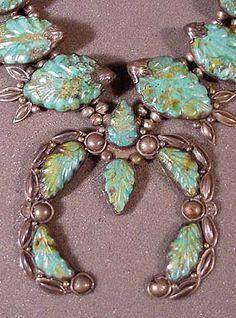 Arizona Native American Jewelry | ... Native American Jewelry Navajo silver and turquoise leaf design Naja