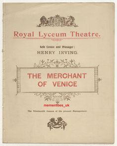 Shakespeare Theatre, The Merchant Of Venice, Opera, Victorian, Opera House