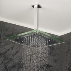 Stunning Square Clear Shower Head , Wide Range Selection Of Shower Fixtures: Modern and Most Sophisticated Shower Heads For Your Contemporary Bathroom Look In Bathroom Category Shower Heads Best, Waterfall Shower, Shower Fixtures, Modern Shower, Rain Shower, Bathroom Furniture, Bathroom Ideas, Bath Ideas, Shower Ideas