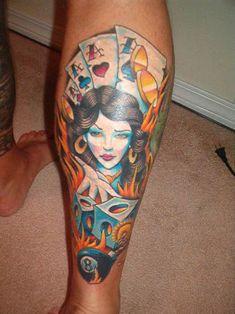 girl casino tattoo
