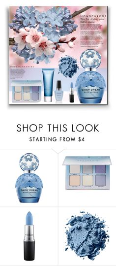 """""""In Bloom: Spring Perfume"""" by bklana ❤ liked on Polyvore featuring Marc Jacobs, Anastasia Beverly Hills, MAC Cosmetics, Clarins, Pink, Flowers, feminine, bklana and springperfume"""