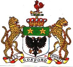 Gosford City Council coat of arms.