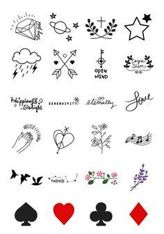 Tattoo Designs - Ideas and Inspiration, .- Tattoo Designs – Ideen und Inspirationen, Tattoo Designs – Ideas and Inspiration, - Kritzelei Tattoo, Form Tattoo, Doodle Tattoo, Shape Tattoo, Tattoo Drawings, Mini Tattoos, Cute Tattoos, Body Art Tattoos, Small Tattoos