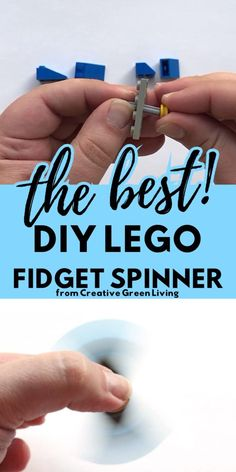 How to make a super cool Lego fidget spinner. This easy DIY fidget spinner project is perfect for making homemade fidget spinners that are balanced and really work. This awesome STEM lego hack lets you learn how to make your own fidget from things you already have at home. Both boys an girls will love this design based craft project. Perfect for working on at home or in the classroom. Diy Fidget Spinner, Back To School Crafts, Lego Instructions, How To Make Diy, Cool Lego, Lego Building, Sensory Activities, Craft Projects, Easy Diy