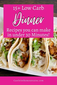 15+ recipes for 30 minute Low Carb Dinners. These are all family friendly Keto meals with whole, healthy ingredients to make weeknight meals. #easyketo #castleinthemountains #ketoweeknightmeals Low Carb Dinner Recipes, Keto Recipes, Bacon Fried Cabbage, Bacon Fries, Pan Seared Salmon, Steak Bites, Diet And Nutrition, Weeknight Meals, Dinners