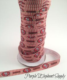 5 yards of San Francisco 49ers football team fold over elastic FOE, supply, red, birthday, party favors, white, gold on Etsy, $4.75
