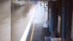 Sydney rail line turn into a river