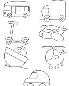 Easy Drawings For Kids, Drawing For Kids, Art For Kids, Applique Patterns, Applique Designs, Quilt Patterns, Quiet Book Templates, Quiet Book Patterns, Toddler Coloring Book
