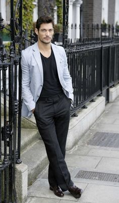 Nonchalant serious face. | 32 Examples Of David Gandy's Best Serious Face