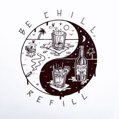 Jamie Browne Art @Jamie Browne ~ jamiebrowneart.com ~ Be Chill Refill