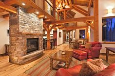 Two story timber frame; fireplace; tongue-and-groove ceilings; wood floors. Ski Ranches: 241 Quakey Lane, Telluride; listed 1.65M 7/2012