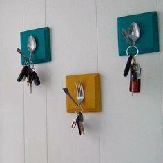 porta chiavi con posate by Questo lo riciclo https://www.facebook.com/pages/Questo-lo-riciclo-ti-Piace-LIdea/326266137471034