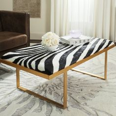 Shop a great selection of Safavieh Home Collection White Gold Millie Zebra Loft Bench. Find new offer and Similar products for Safavieh Home Collection White Gold Millie Zebra Loft Bench. Gold Bench, Cowhide Bench, Modern Loft, Banquette, Home Collections, Art Deco Fashion, Outdoor Living, Pergola, Upholstery