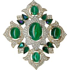 "Magnificent ""Jewels of India"" Brooch – Designed for Trifari Company by Alfred Philippe - Rare! – Jewels of India Series 1965"