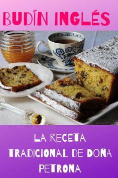 Las recetas de Doña Petrona son un verdadero clásico! Para todas nuestras REPOSTERAS hoy vamos a mostrarte como preparar un budín inglés al estilo de Doña Mexican Sweet Breads, Plum Cake, Oreo Cake, English Food, Banana Bread, Dried Fruit, Sweet Tooth, French Toast, Deserts