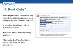 20 Ways to Use Edmodo; Great resource for project Ideas