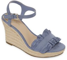 Liz Claiborne Munster Womens Wedge Sandals