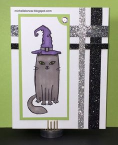 Show and Tell, with Michelle: August 2016 Stamp of the Month Blog Hop ~ Purr-fect Halloween