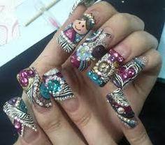 Resultado de imagen para diseños de uñas con piedras para xv