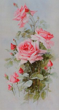 PRINT FREE SHIP Pastel Pink Victorian Roses by VictorianRosePrints, $10.95